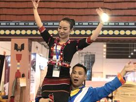 德宏民族体育项目亮相旅交会