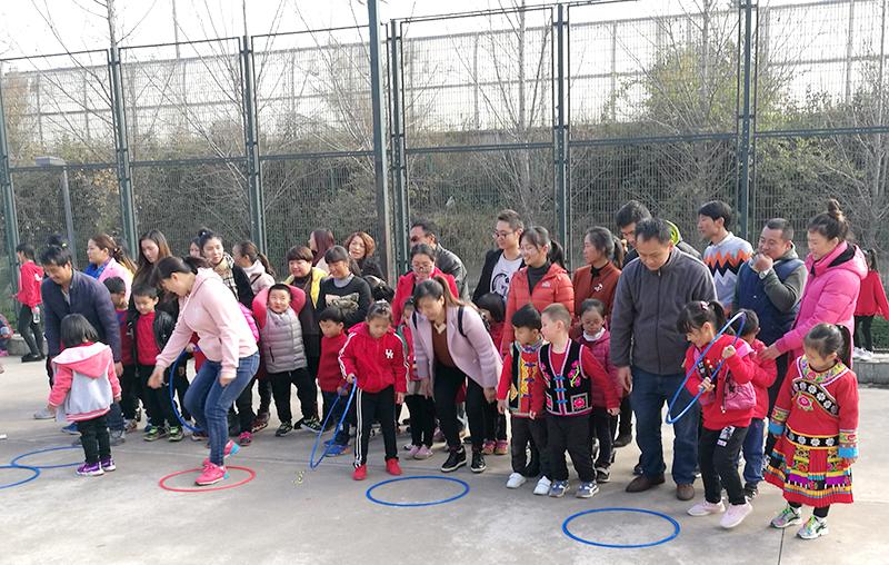 玉溪市玉龙社区举行冬季亲子运动会