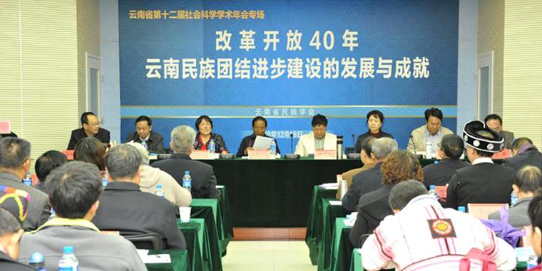 """""""改革开放40年云南民族团结进步建设的发展与成就""""研讨会在昆召开"""