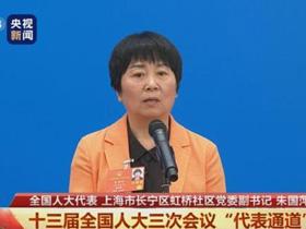 """朱国萍代表:社区""""小社会""""搞好了,""""大社会""""就稳定了"""