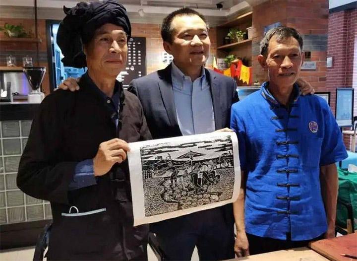 马关壮族农民版画上海开展