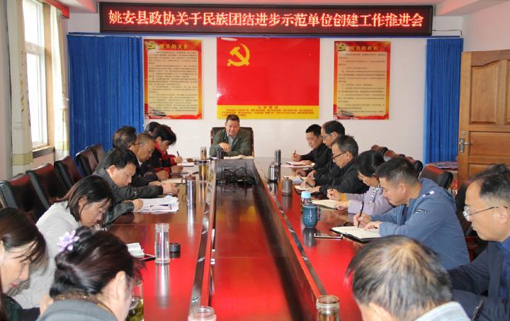 姚安县政协召开民族团结进步创建工作推进会