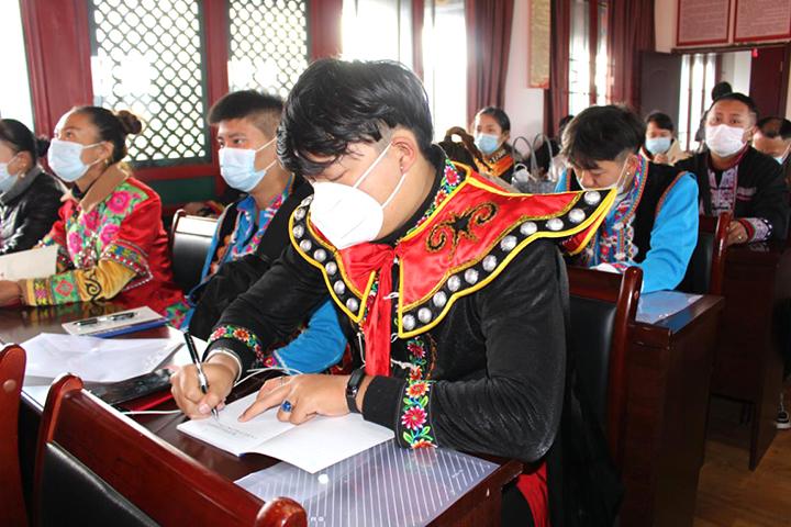 楚雄彝人古镇社区深入学习党的十九届五中全会精神